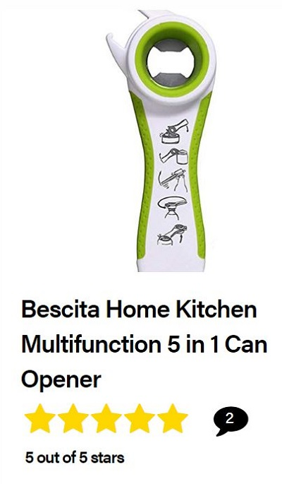 Bescita Home Kitchen Multifunction 5 in 1 can opener review