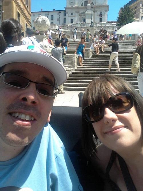 Amy and Chris on holiday