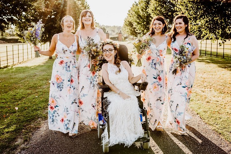 Tori with her bridesmaids