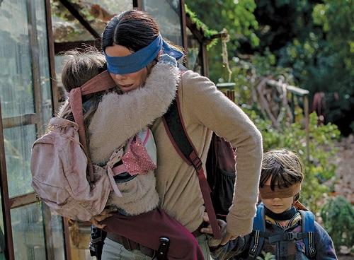 Sandra Bullock in the film Bird Box