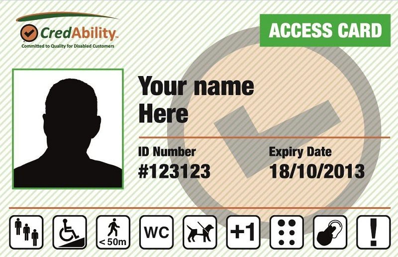 Access Card with disability symbols