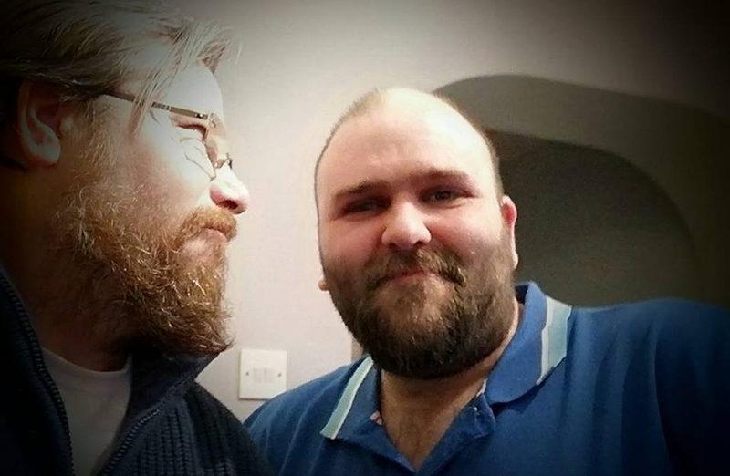 Ian Tucker and his friend Jay