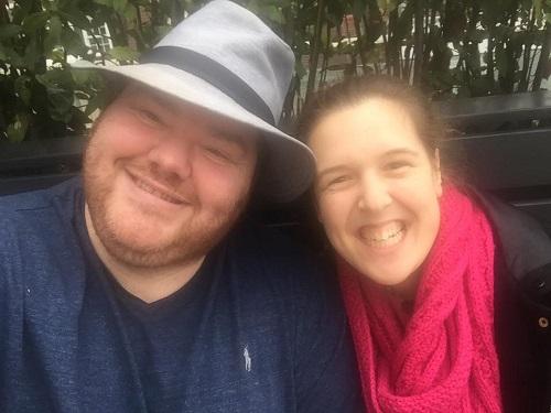 Simon Sansome and Rosie Jones