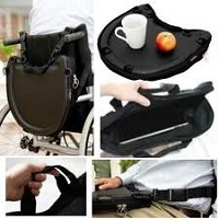 Trabasack wheelchair lap tray and bag