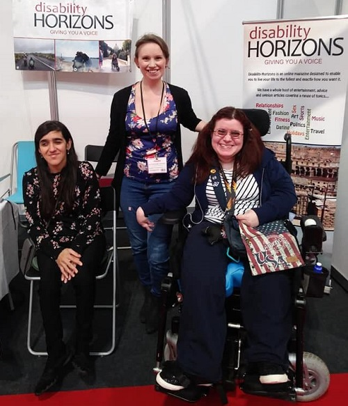 Zubee, Emma and Liz from Disability Horizons at Naidex