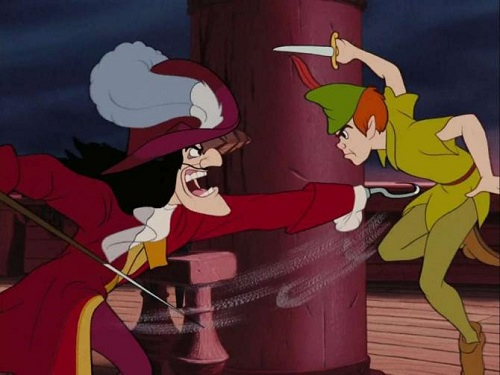 Captin Hook with Peter Pan