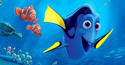 Dory with Marlin and Nemo in Finding Nemo