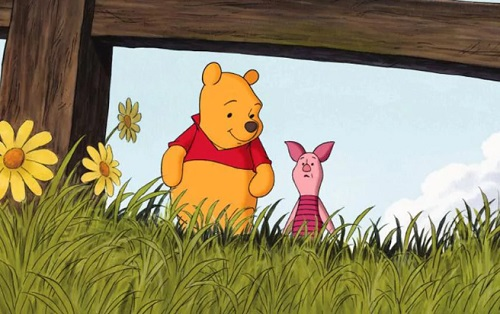 Piglet with Winnie the Pooh