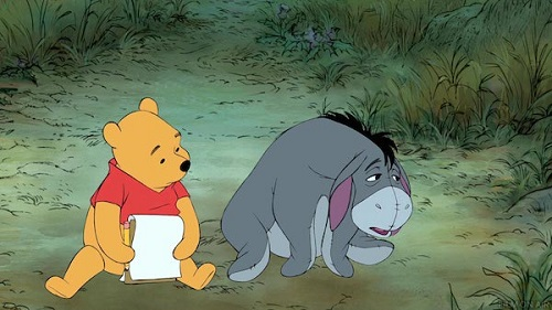 Eeyore with Winnie the Pooh