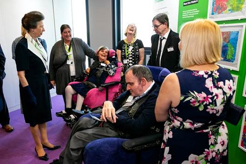 Livability exhibition of disabled artists with Princess Anne