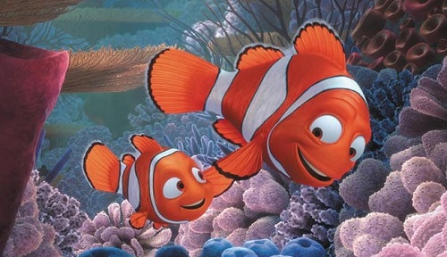 Nemo and his dad in Finding Nemo