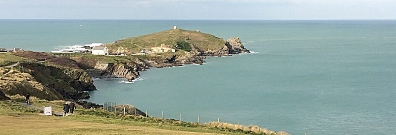 Newquay headland in Cornwall