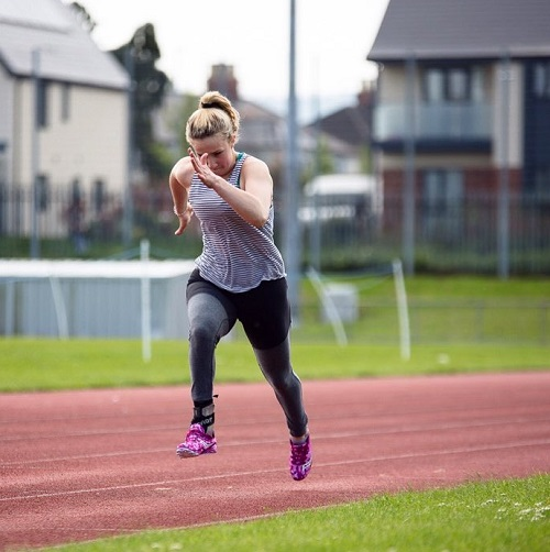 Para-athlete Victoria Baskett sprinting