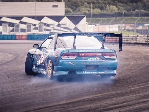 Rally driving car