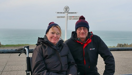 The Bimblers at Lands End in Cornwall