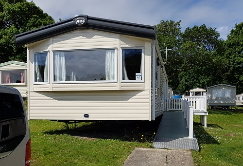 Accessible caravan on Isle of Wight