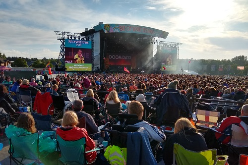 Accessible viewing platform at Isle of Wight festival