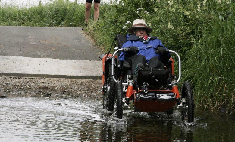 Photo of Martin's trek across Devon: on 4 wheels!!
