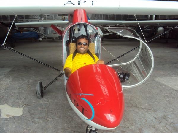 Srin Madipalli in a plane