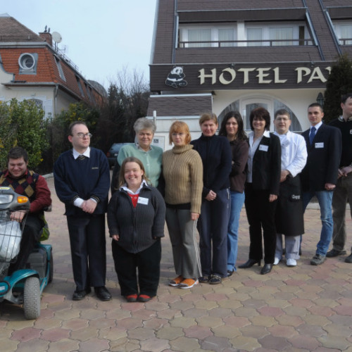 Welcome to Budapest's Hotel Panda – a hotel run by disabled staff