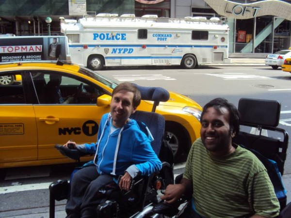 Srin Madipalli and Martyn Sibley in New York