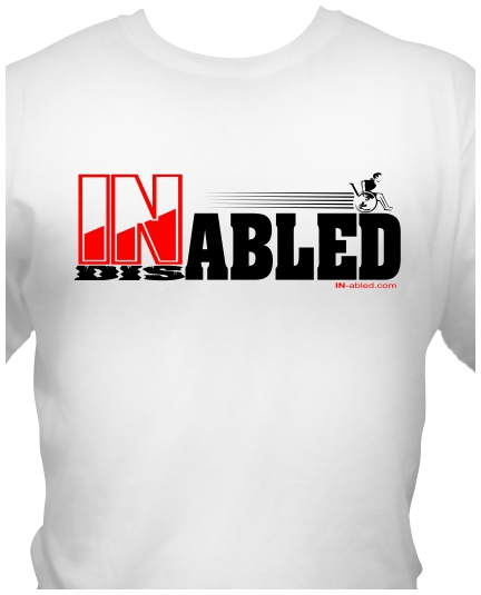 In-abled.com disability T-shirt