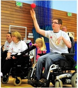 Mark Phillips playing Boccia - Disability Horizons