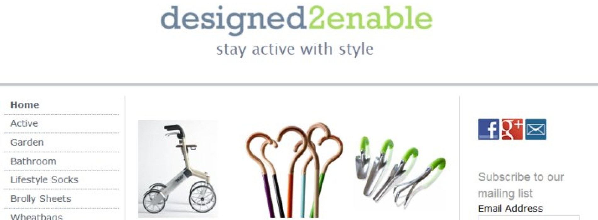 Designed2enable: assisted living products
