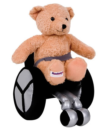 Teddy Jon in a wheelchair
