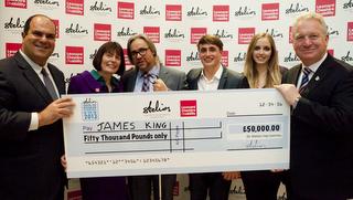 James King, winner of the 2013 Stelios Award for Disabled Entrepreneurs