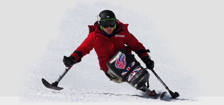 Anna Turney sit skiing