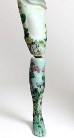 The Alternative Limb Project floral artificial leg