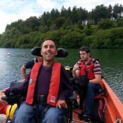 Martyn Sibley on a boat