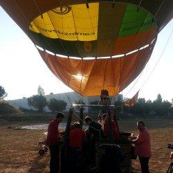 Martyn in a hot air balloon