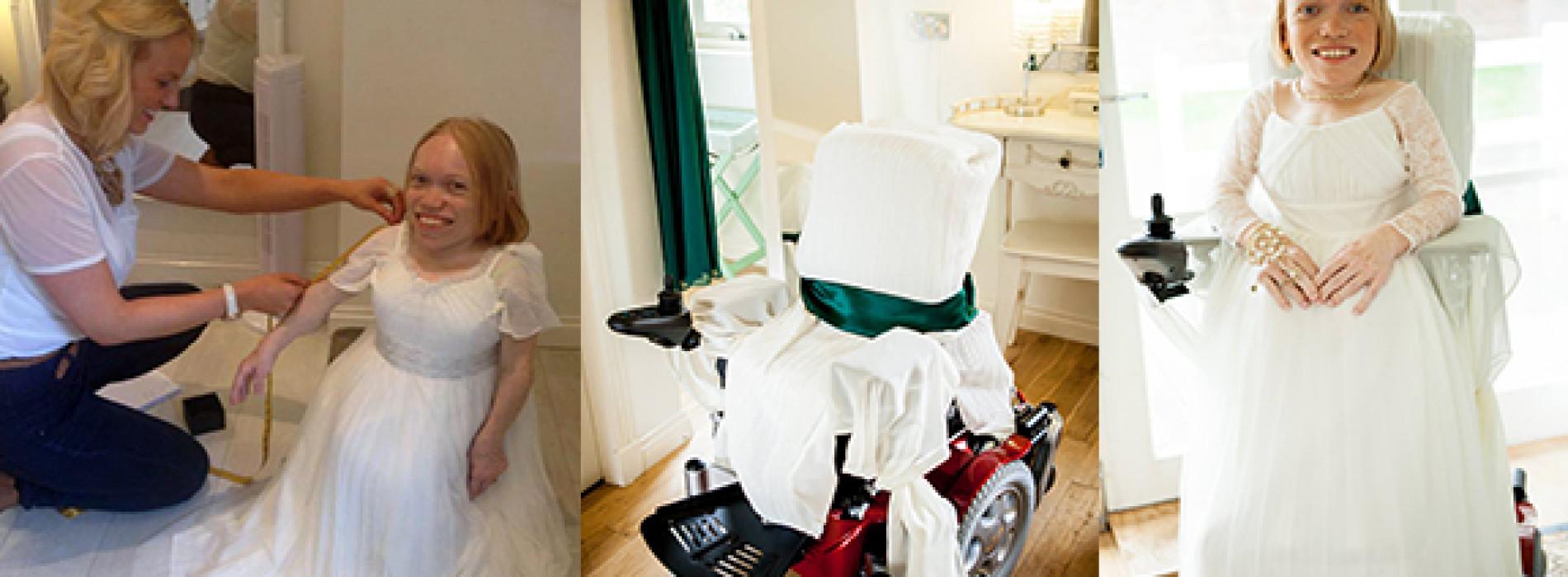 Wedding in a wheelchair