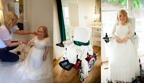 Photo of Wedding in a wheelchair
