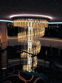Getaway cruise ship - chandelier
