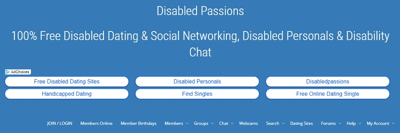 Disabled dating site Disabled Passions