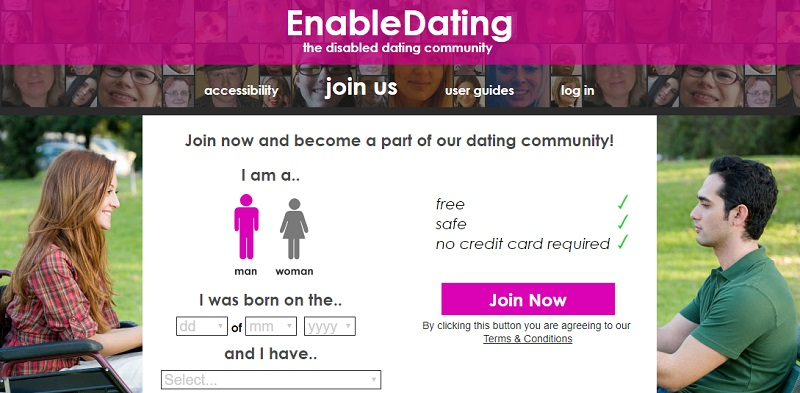 Dating site for disabled singles