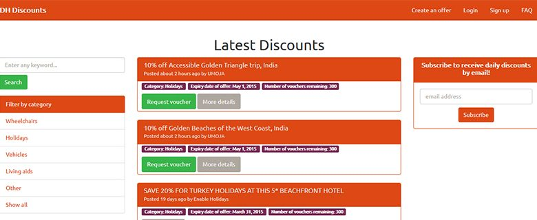 Photo of DH Discounts: empowering disabled people through consumer choice