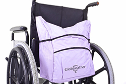 Stylish Globaleather wheelchair carry bag in lilac