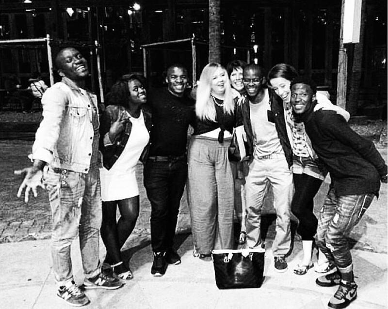 Vusi, Lucia, Mzukulu, Laura, Jean, Vukani, Suzi & Philani on Durban Beach Front