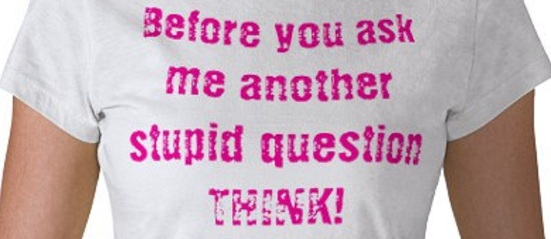 Stupid questions T-Shirt from Zazzle