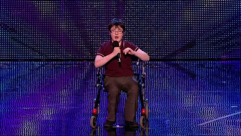 Disabled comedian Jack Carroll