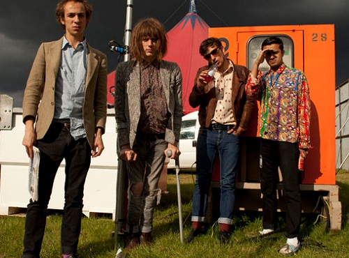 Blaine Harrison, who has spina bifita, and Mystery Jets