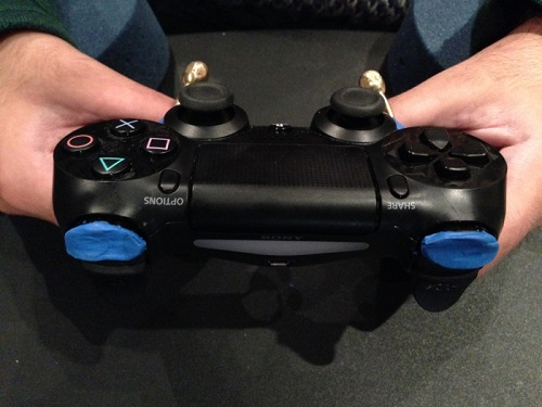 PS4 controller adapted for disability