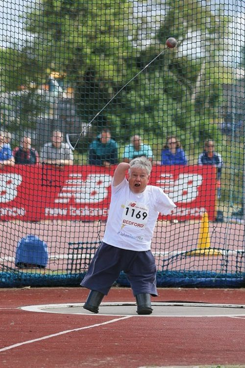 Disabled man John Willis competing in Paralympic sports