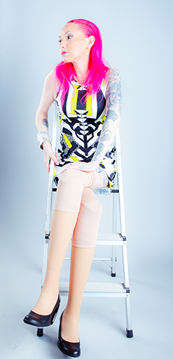 Photograph of disabled model