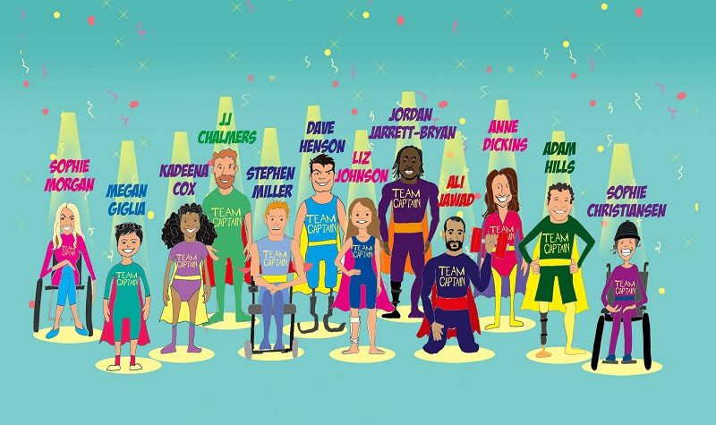 Superhero Series Paralympic captins graphic