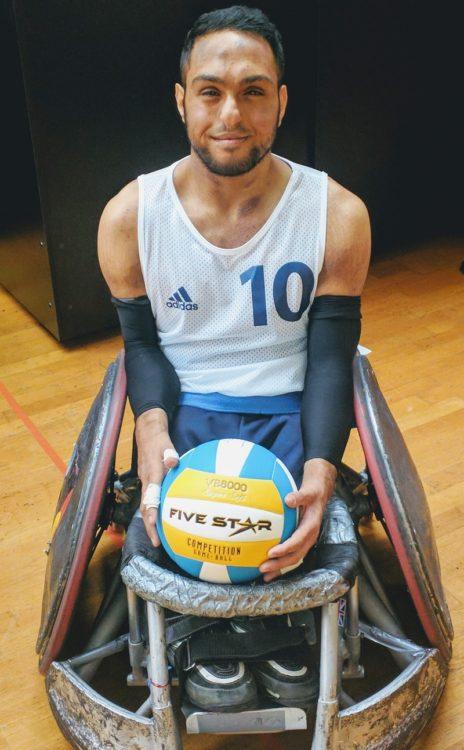 Disabled Paralympian Ayaz Bhuta